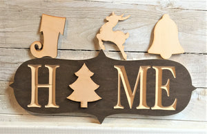 The Adjustable Home Sign Starter Kit, Christmas