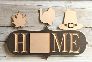 The Adjustable Home Sign Starter Kit, Thanksgiving