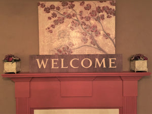 Wooden Welcome Sign - Welcome (Horizontal)