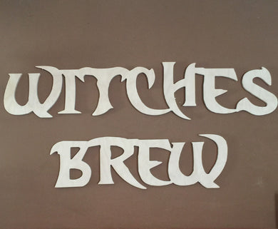 Unfinished Words for Halloween, Witches Brew