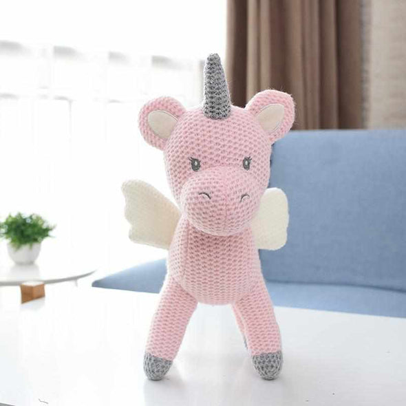 Calming Toy Knitted Doll-Best companionship for Baby-Pink unicorn