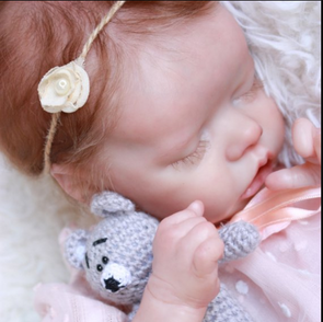 "17"" Evie Lifelike & Realistic Weighted Reborn Baby Girl Doll"