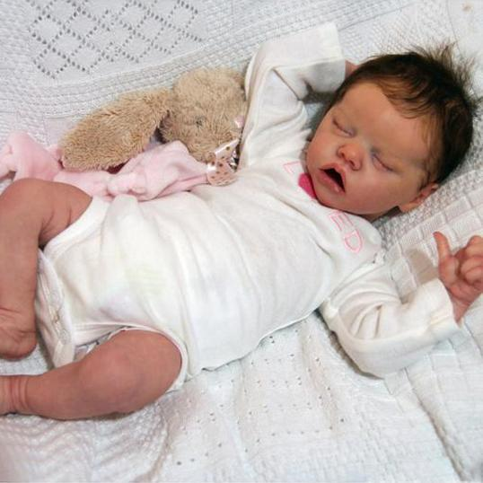 17'' Full Silicone Rayna Reborn Baby Doll Girl Toy