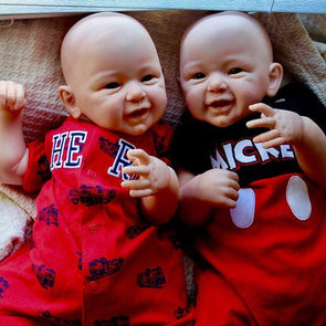 Realistic 21'' Twins Brother Folasade And Courtney Reborn Baby Doll