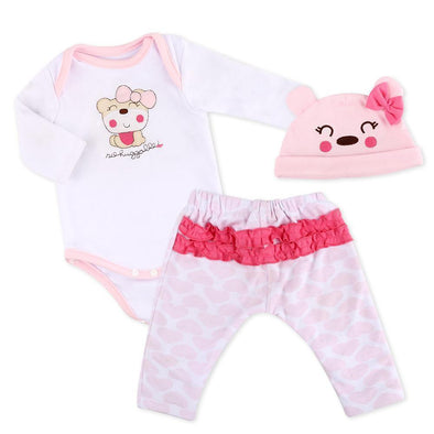 "Reborn Dolls Baby Clothes Pink Outfits For 20""- 22"" Reborn Doll Girl Baby Clothing Sets"