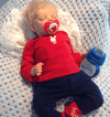 22'' Little Dennis Reborn Baby Doll