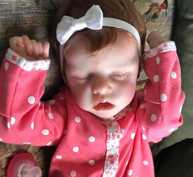 17Inch Victoria Truly Sleeping Reborn Baby Doll Girl , Birthday Present Gift