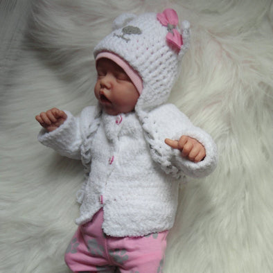 17 Inch Softtouch Real Lifelike Paris Reborn Baby Doll Girl,Handmade Realistic Baby Doll For Girls