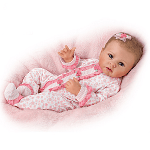22'' Little Katie With Brown Hair And Blue Eyes Reborn Baby Doll