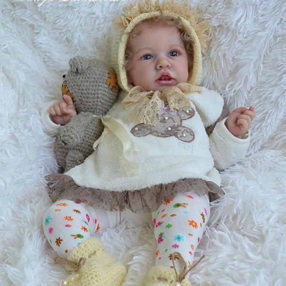 22'' Little Cute Kayla Realistic Weighted Reborn Baby Doll Girl