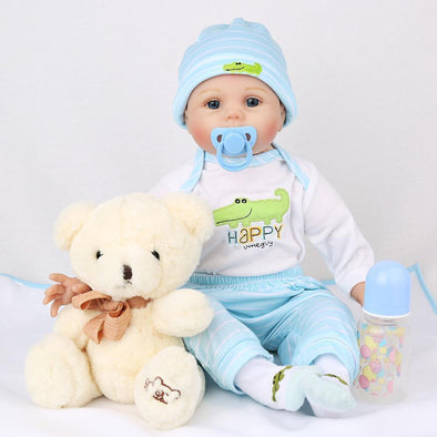 "22"" Little Logan : Reborn Baby Doll Boy - rebornbabygirl"