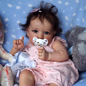 "22'' Reborn Baby Doll Girl Melody, Real Life Dolls Toy With Coos And ""Heartbeat"" , Birthday Present"