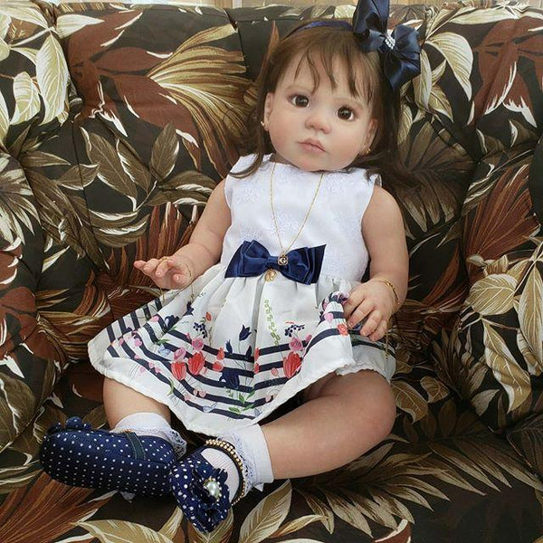 Lifelike 22'' Little Cute Claire Reborn Baby Doll Girl