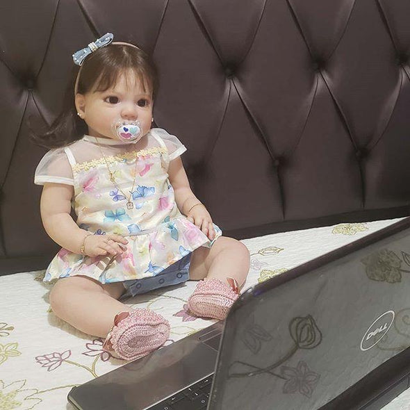 Lifelike 22'' Little Cute Aaliyah Reborn Baby Doll Girl