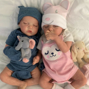 17 '' Real Lifelike Twins Sister Daphne  and Lloyd Reborn Baby Doll Girl