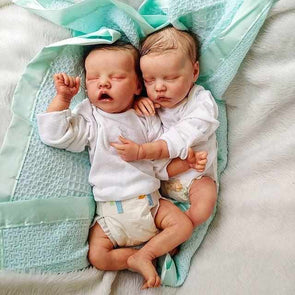 17Inch Truly Look Real Sleeping Reborn Twins Baby Girl Dolls Alessia And Alexiane Gift