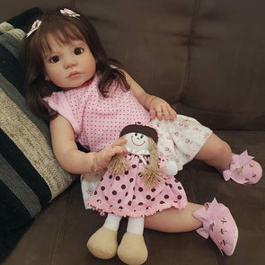 Lifelike 22'' Little Cute Hazel Reborn Baby Doll Girl