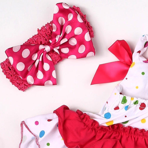 "Reborn Dolls Baby Clothes Red Dress For 20""- 22"" Reborn Doll Girl Baby Clothing Sets"