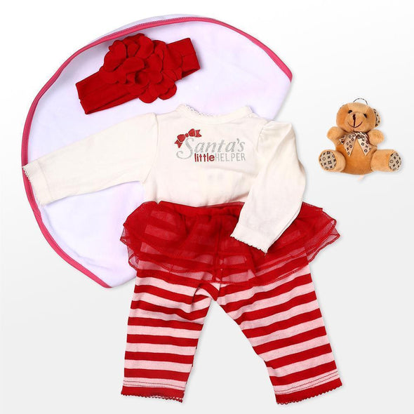"Reborn Dolls Baby Clothes Red Outfit For 20""- 22"" Reborn Doll Girl Baby Clothing Sets"