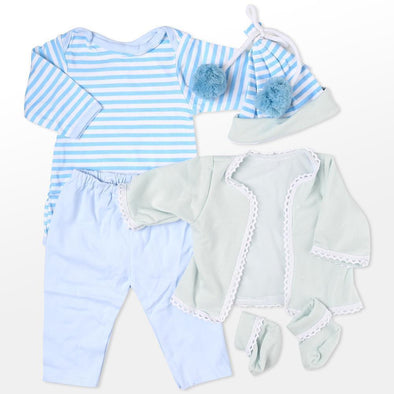 "Reborn Dolls Baby Clothes Blue Outfits For 20""- 22"" Reborn Doll Girl Baby Clothing Sets"