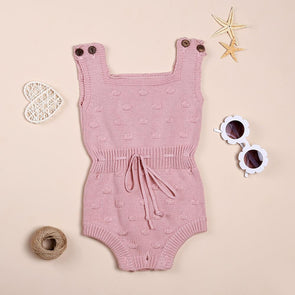 Summer Knitted Jumpsuit Like A Swimsuit For 22'' Reborn Baby Doll Girl
