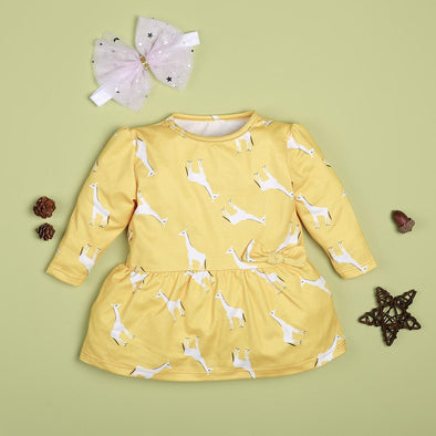 Cute Fawn Yellow Dress For 22'' Reborn Baby Doll Girl