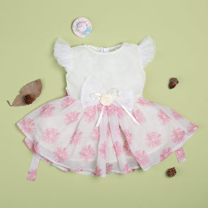 Cute Flower Pink Lace Dress For 22'' Reborn Baby Doll Girl
