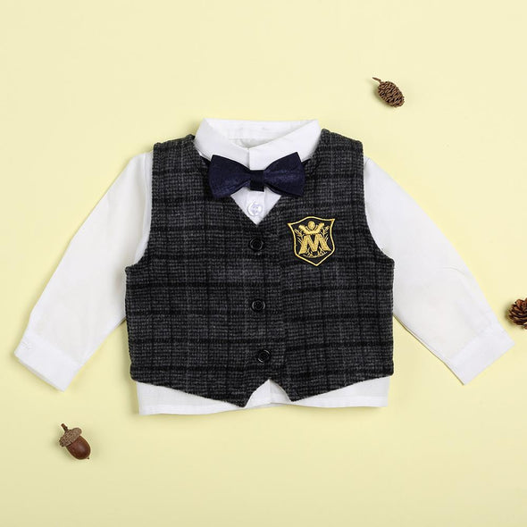 Gentleman Bow Tie Top For 22'' Reborn Baby Doll Boy