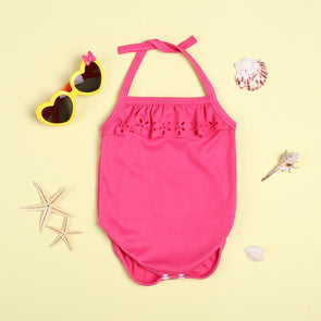 Summer Pink Cute Lace Bodysuit For 22'' Reborn Baby Doll Girl