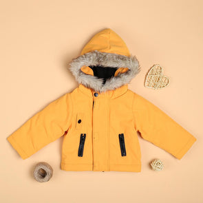 Yellow Cotton Warm Jacket For 22'' Reborn Baby Doll Boy