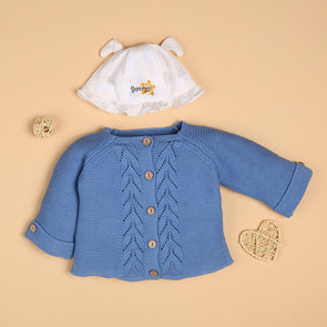 Blue Sweet Sweater For 22'' Reborn Baby Doll Girl