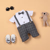 White Gray Shirt Short Sleeve Bodysuit For 22'' Reborn Baby Doll Boy