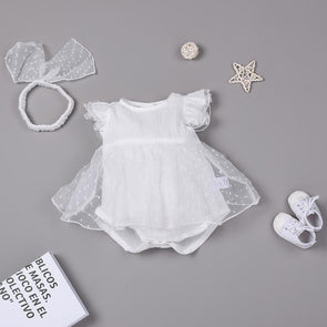 White Princess Lace Sweet Cute Princess Dress For 22'' Reborn Baby Doll Girl