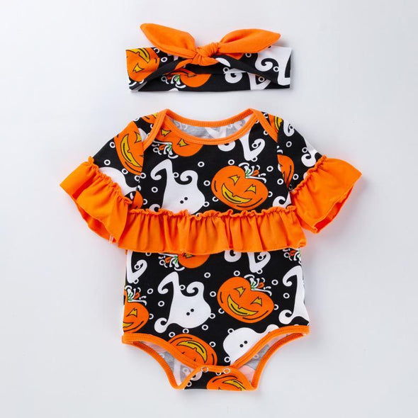"Pumpkin Ghost Romper Suit for 20""-22"" Reborn Baby"