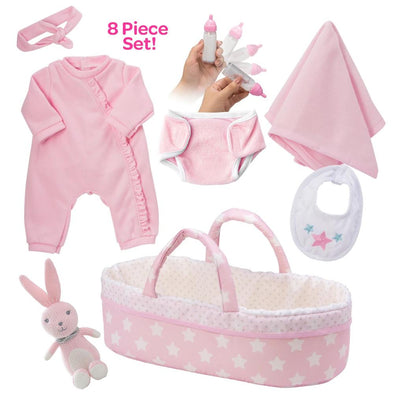 [It'S A Girl!] Adoption Reborn Baby Essentials-8Pcs Gift Set