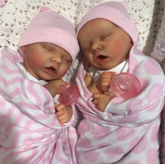 17 inch Real Lifelike Twins  Jorge and Tina Reborn Baby Doll Girl