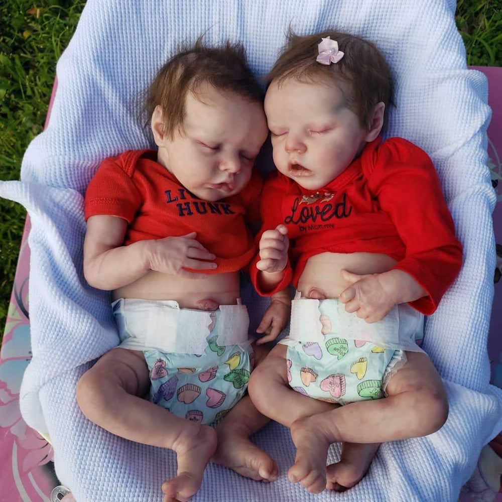 17 inch Real Lifelike Twins  Rocio and Lisa Reborn Baby Doll Girl