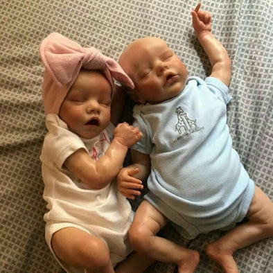 17 Inch Real Lifelike Twins  Tamika And Gaborne Reborn Baby Doll Girl
