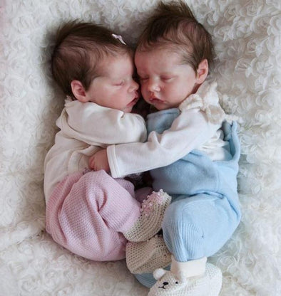 17 '' Real Lifelike Twins Sister Debbie And Deborah Sleeping Reborn Baby Doll Girl , Birthday Present Gift