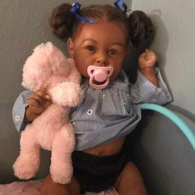 "[Special Discount] 22"" African American Kelly Reborn Baby Doll Girl"