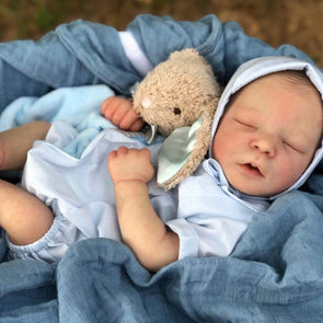 reborndollsshop NEW ARRIVALS Lifelike 17.5'' Cecelia Reborn Baby Doll Boy by Rebirthdoll® Exclusive