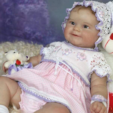reborndollsshop Series Maddie 22'' Little Luciana Cute Reborn Baby Doll -Realistic And Lifelike