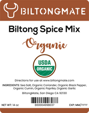 Load image into Gallery viewer, Biltong Spice - Organic (14oz)