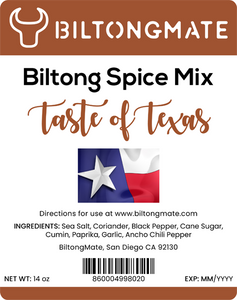 Biltong Spice - Taste of Texas (14oz)