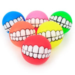 1pcs Cute Pet Ball Toys Puppy Cat Dog Funny Ball Teeth Silicon