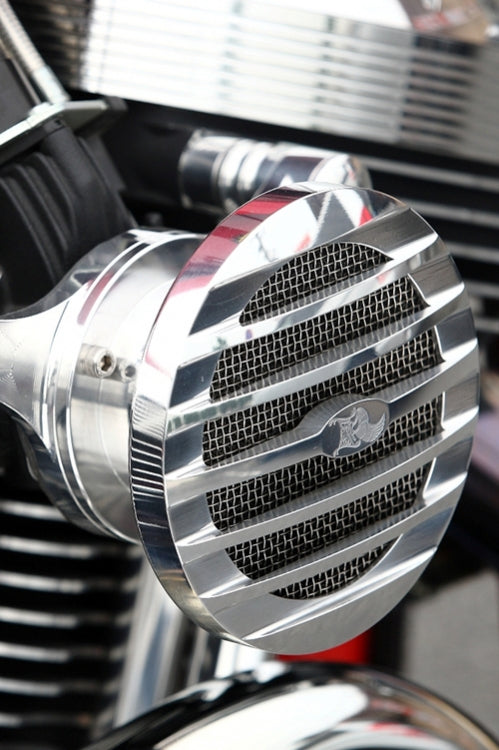 Ribbed Intake, Polished, TC, Super E,CV,HD EFI