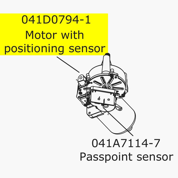 Genuine Merlin Motor With Positioning Sensor WhisperDrive (MT3580EVO)