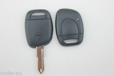 Renault Remote Car Key Blank 1 Button Replacement Shell