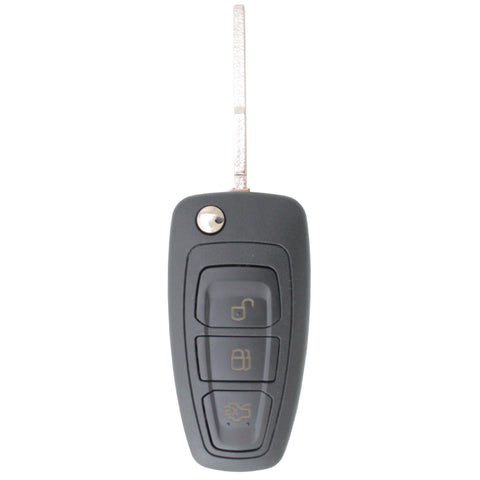 Complete To Suit Ford Transponder Remote Flip Car Key C-MAX/Grand/Galaxy/Focus/Mondeo