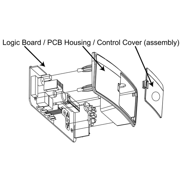 Genuine Merlin Logic Board / PCB Housing / Control Cover (Assembly) Commander Essential (MS65MYQ)